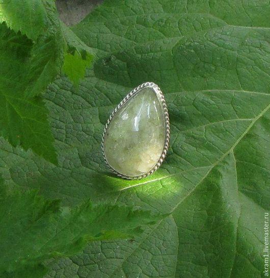 """Кольца ручной работы. Ярмарка Мастеров - ручная работа. Купить Кольцо """"Свет в тени деревьев..."""" с апатитом. Handmade. Зеленый"""