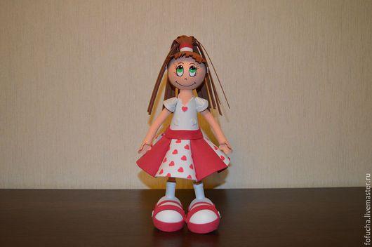 Человечки ручной работы. Ярмарка Мастеров - ручная работа. Купить Кукла из фоамирана (фома) Машутка. Handmade. Кукла из фоамирана