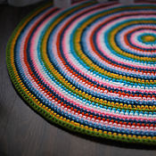 Для дома и интерьера handmade. Livemaster - original item The crocheted round rug Berry mix handmade. Handmade.