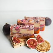 Косметика ручной работы handmade. Livemaster - original item Soap from scratch with natural Fig for the body of the hands Fig. Handmade.