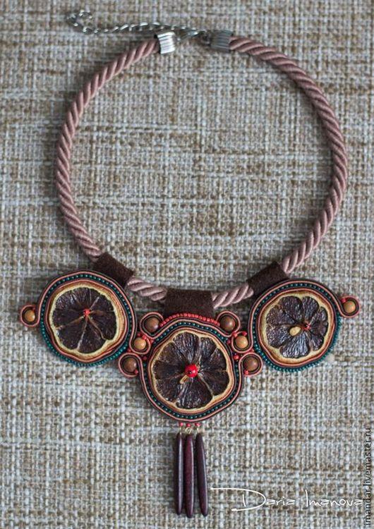 Колье, бусы ручной работы. Ярмарка Мастеров - ручная работа. Купить Колье: «По следам племени Майя». Handmade.