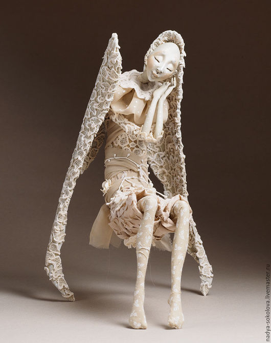 Коллекционные куклы ручной работы. Ярмарка Мастеров - ручная работа. Купить Спящий. Handmade. Бежевый, хлопок