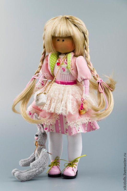 Коллекционные куклы ручной работы. Ярмарка Мастеров - ручная работа. Купить Кукла тильда Зефиринка. Handmade. Бледно-розовый