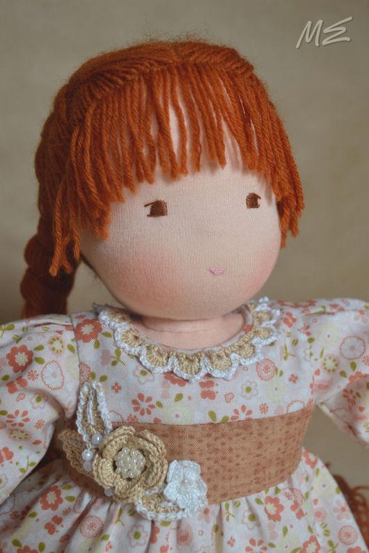 Вальдорфская игрушка ручной работы. Ярмарка Мастеров - ручная работа. Купить Вальдорфская кукла Поленька. Handmade. Рыжий, fabric doll