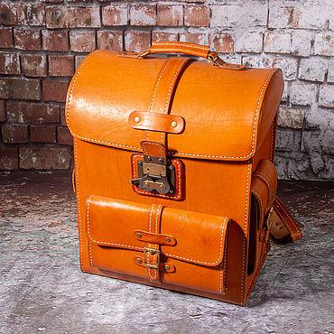 Сумки и аксессуары ручной работы. Ярмарка Мастеров - ручная работа Рюкзак ранец кожаный в стиле стимпанк. Handmade.