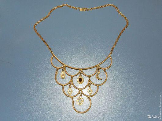 Винтажные украшения. Ярмарка Мастеров - ручная работа. Купить Florenza ожерелье колье подвеска винтаж. Handmade. Желтый, стиль, подвеска