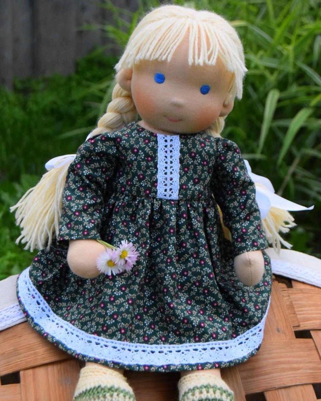 Вальдорфская кукла Маруся, Вальдорфские куклы и звери, Санкт-Петербург,  Фото №1