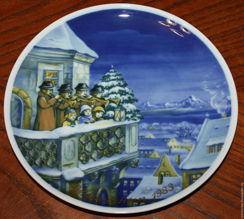 Винтаж: Коллекционные, рождественские тарелки Royal Tettau, Германия, Винтажные предметы интерьера, Москва, Фото №1