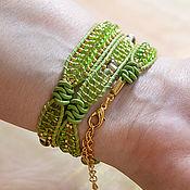 Украшения handmade. Livemaster - original item Soft green bracelet winding Chan Lu Spring mood. Handmade.