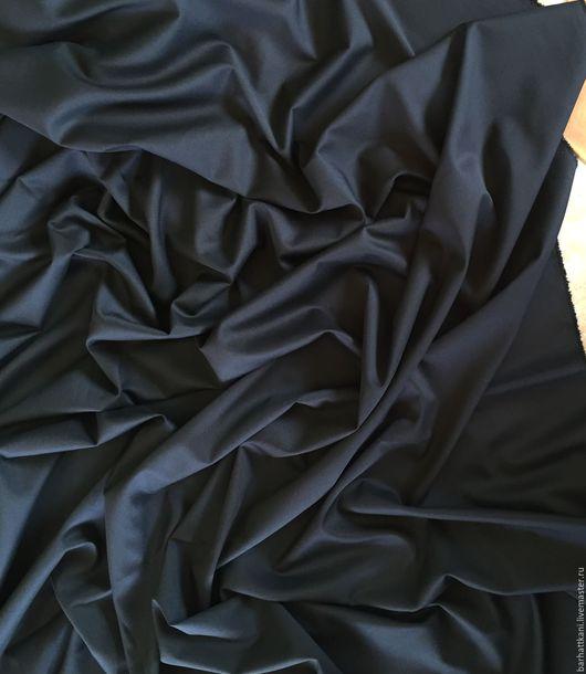 Шитье ручной работы. Ярмарка Мастеров - ручная работа. Купить Итальянская костюмная ткань. Handmade. Черный, ткань для костюма