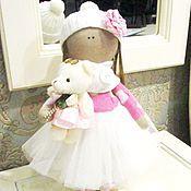 Куклы и игрушки ручной работы. Ярмарка Мастеров - ручная работа Кукла с мишкой. Handmade.
