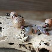 Украшения ручной работы. Ярмарка Мастеров - ручная работа Браслет «Голубка». Handmade.