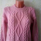 Одежда handmade. Livemaster - original item Cashmere sweater powder Pink. Handmade.