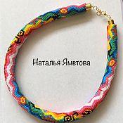 Necklace handmade. Livemaster - original item harness beaded