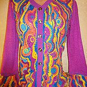 """Одежда ручной работы. Ярмарка Мастеров - ручная работа Жакет """"ярмарок краски"""". Handmade."""