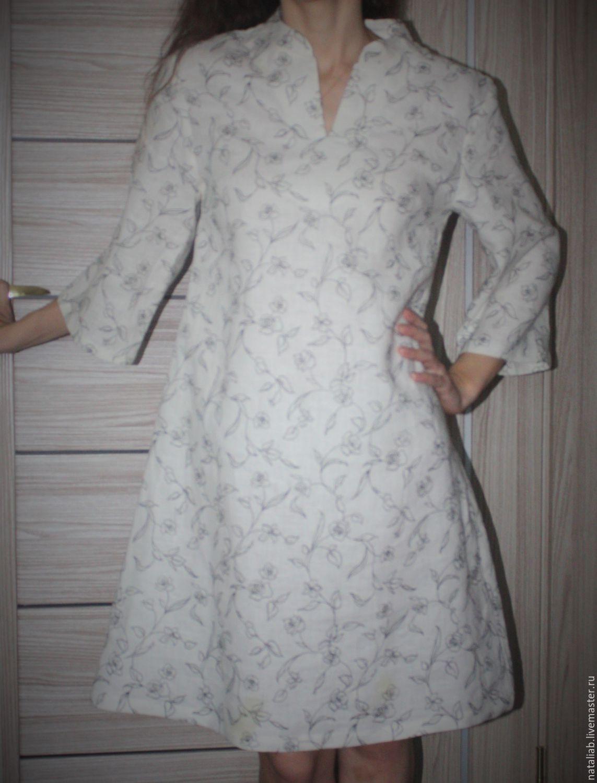 """Платья ручной работы. Ярмарка Мастеров - ручная работа. Купить Льняное платье """"LIMERENCE"""". Handmade. Белый, льняная одежда"""