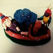Куклы и пупсы ручной работы. Ярмарка Мастеров - ручная работа Игрушка из ваты мультик 38 попугаев8х16 см. Handmade.