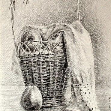 Картины и панно ручной работы. Ярмарка Мастеров - ручная работа Графика Яблоки. Handmade.