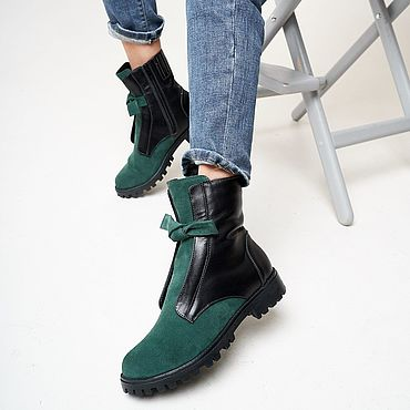 Обувь ручной работы. Ярмарка Мастеров - ручная работа Ботинки с бантами Ana Chaqrua. Handmade.