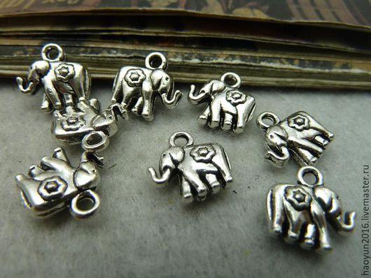 Для украшений ручной работы. Ярмарка Мастеров - ручная работа. Купить 20 шт металлические подвески старинное серебро слон c6118. Handmade.