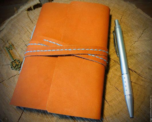 Блокноты ручной работы. Ярмарка Мастеров - ручная работа. Купить Мягкий блокнот формата А6. Handmade. Рыжий, ежедневник