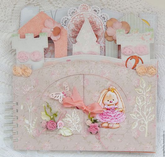 """Фотоальбомы ручной работы. Ярмарка Мастеров - ручная работа. Купить Альбом """"Замок для принцессы"""". Handmade. Розовый, подарок женщине, альбомы"""