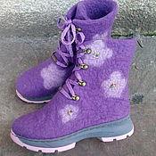 """Обувь ручной работы. Ярмарка Мастеров - ручная работа Обувь зимняя сапоги """"Для девочки"""". Handmade."""