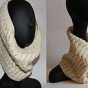 Аксессуары handmade. Livemaster - original item Knitted Snood with openwork pattern