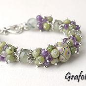 Украшения handmade. Livemaster - original item Bracelet made of natural stones Watercolor. Handmade.