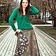 """Юбки ручной работы. Ярмарка Мастеров - ручная работа. Купить Валяная юбка в стиле бохо """"Лесная нимфа"""". Handmade."""