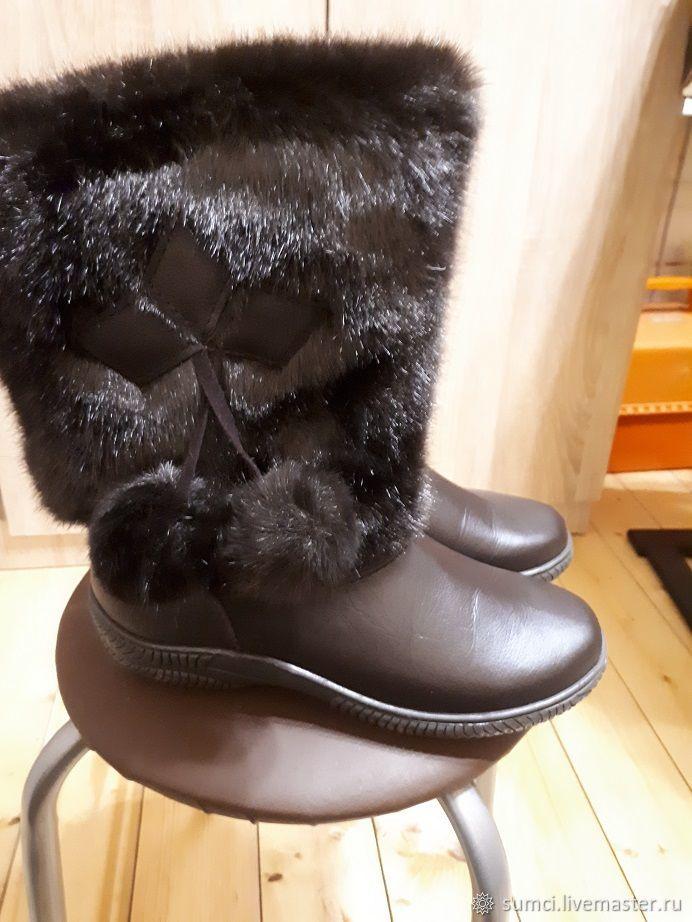 Обувь ручной работы. Ярмарка Мастеров - ручная работа. Купить Унты натуральная кожа. Handmade. Валенки, обувь на зиму