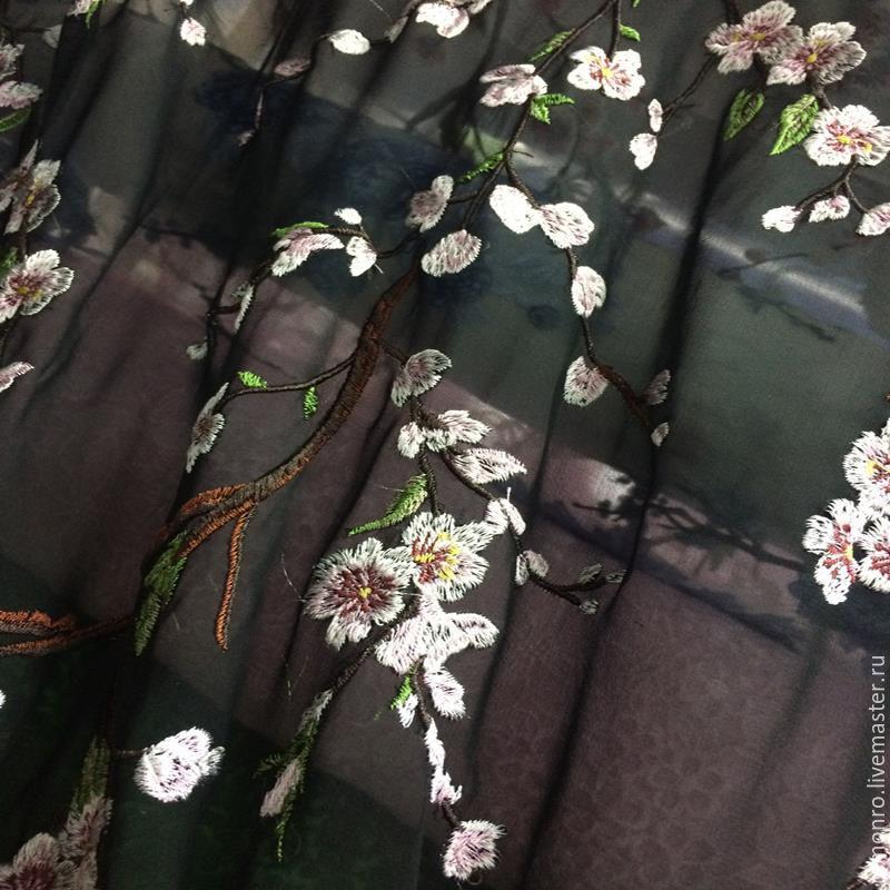 Ткани шифон с вышивкой