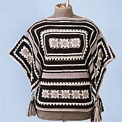 """Одежда ручной работы. Ярмарка Мастеров - ручная работа Пуловер-пончо """"Индейская геометрия"""". Handmade."""