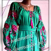 Одежда handmade. Livemaster - original item Tunic Dress Embroidered boho Vita Kin style.. Handmade.