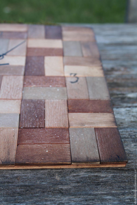часы настенные, природный материал, дерево, деревянный рустик, часы для дома, Марина Абушахмина