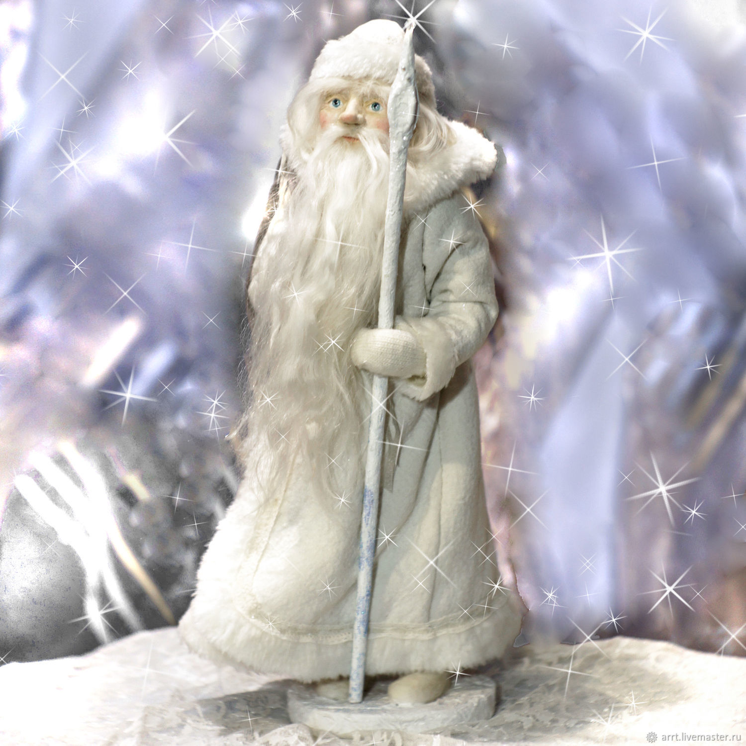santa claus doll author's interior under the christmas tree, Ded Moroz and Snegurochka, St. Petersburg,  Фото №1