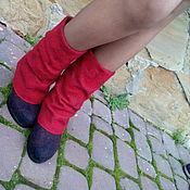 Обувь ручной работы. Ярмарка Мастеров - ручная работа Эко ботфорты Красное и черное. Handmade.