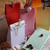 Сувениры и подарки ручной работы. Ярмарка Мастеров - ручная работа Упаковочный пакет цветной с тиснением. Handmade.