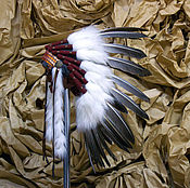 Одежда ручной работы. Ярмарка Мастеров - ручная работа Индейский головной убор - Медвежий Рык. Handmade.