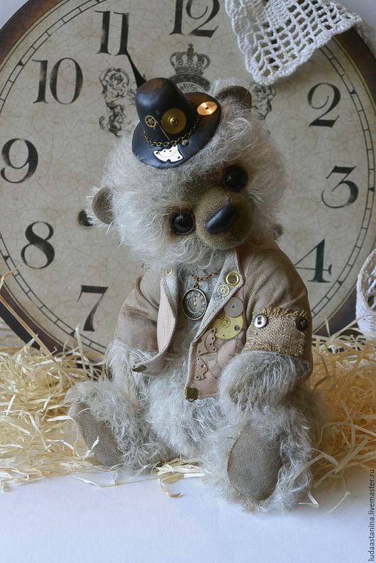 """Мишки Тедди ручной работы. Ярмарка Мастеров - ручная работа. Купить """"Герберт"""" - Хранитель времени.. Handmade. Мишка тедди, коричневый"""