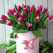Цветы и флористика ручной работы. Ярмарка Мастеров - ручная работа Букет в шляпной коробке. Handmade.