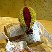 """Украшения ручной работы. Ярмарка Мастеров - ручная работа Брошь""""Воздушный шар"""" красный желтый.. Handmade."""