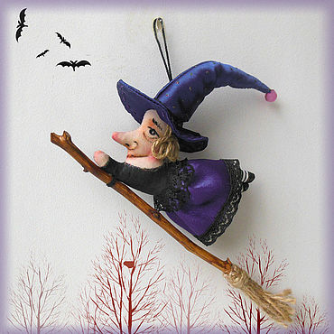 Dolls & toys handmade. Livemaster - original item Miniature toys: Little witch. Handmade.