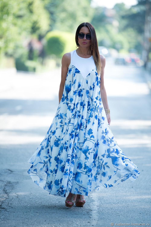 8f4828c1e66 Платья ручной работы. Ярмарка Мастеров - ручная работа. Купить Легкое  летнее платье из шифона ...