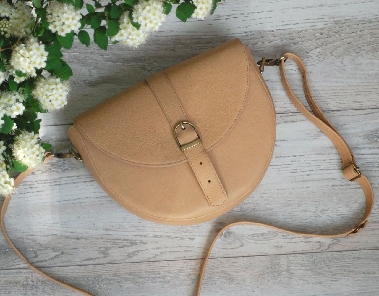 Сумка-седло из натуральной кожи Джинни, Классическая сумка, Тверь,  Фото №1