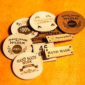 Материалы для творчества handmade. Livemaster - original item Labels and tags made of genuine leather to order!. Handmade.