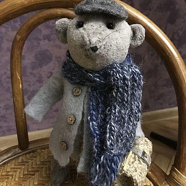 Куклы и игрушки ручной работы. Ярмарка Мастеров - ручная работа Игрушки:Тедди мышонок Шарль. Handmade.