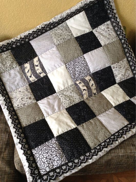 Пледы и одеяла ручной работы. Ярмарка Мастеров - ручная работа. Купить Конверт черно- белый. Handmade. Чёрно-белый, синтепон