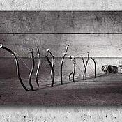 """Картины ручной работы. Ярмарка Мастеров - ручная работа Картина на дереве """"Восстание гвоздей"""". Handmade."""
