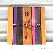 Для дома и интерьера ручной работы. Ярмарка Мастеров - ручная работа Настенные часы в полосу. Handmade.